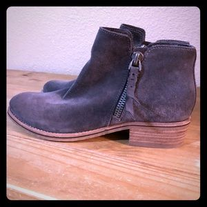 Dolce Vita gray suede booties